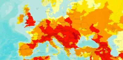 Карта- прогноз наводнений 2013- 2033.