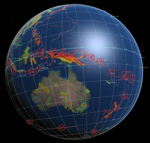 Карта- прогноз сейсмоактивности на июль 2012- 1.