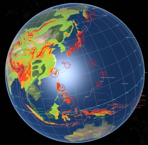 Карта- прогноз сейсмоактивности на июль 2012- 5.
