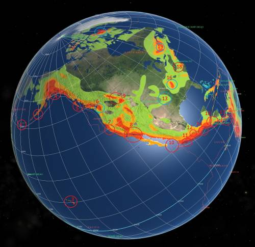 Карта- прогноз сейсмоактивности на июль 2012- 3.