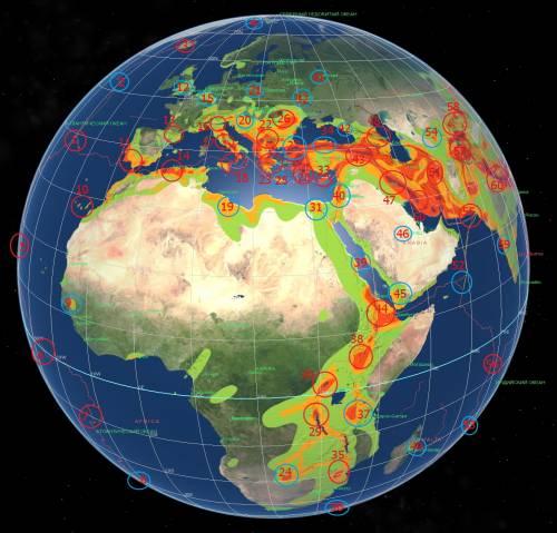 Карта- прогноз сейсмоактивности на июль 2012- 2.