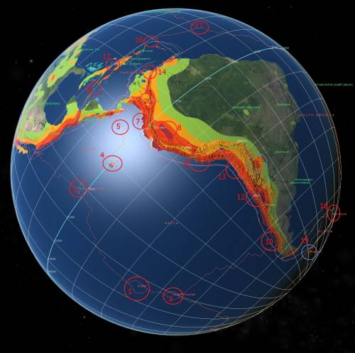 Карта- прогноз сейсмоактивности на июль 2012- 4.