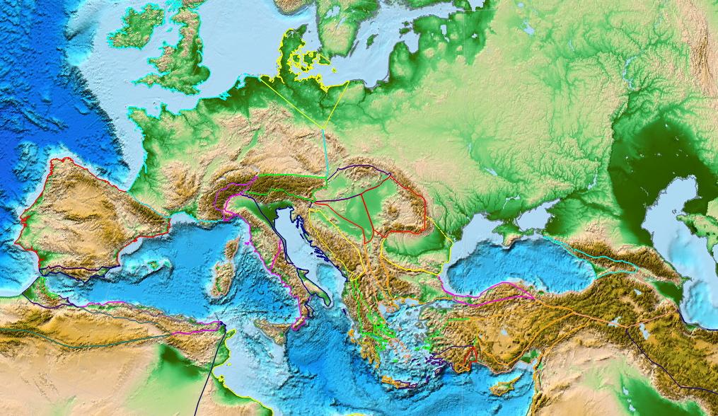 В зонах стыка тектонических